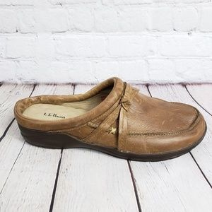 LL Bean Leather Office Mules